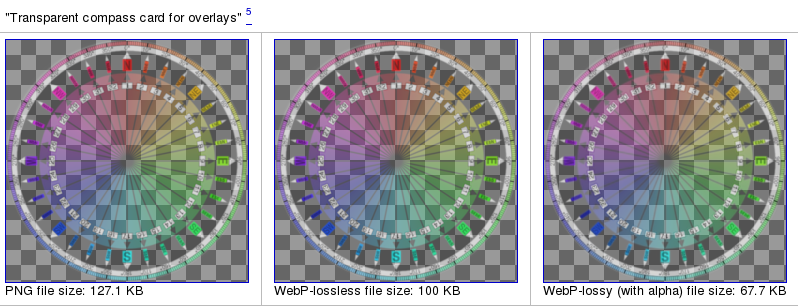 webP : transparence avec perte
